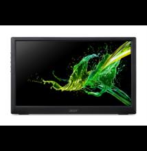 "ACER IPS LED Hordozható Monitor PM161Qbu, 15,6"" FHD, 15ms, 100M:1, 220 nits, USB-C, fekete"