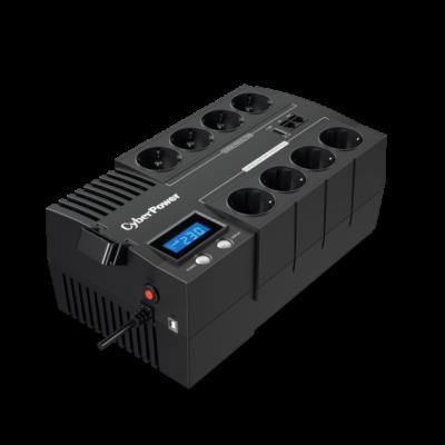 CYBERPOWER UPS BR1000ELCD (8 aljzat) 1000VA 600W, 230V szünetmentes elosztósor + USB LINE-INTERACTIVE