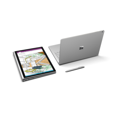 "Microsoft Surface Book 2 - 13.5"" (3000 x 2000) - Core i5-7300U (7th Gen, HD620) - 8 GB RAM - 256 GB SSD Windows 10 Pro"